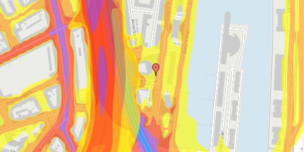Trafikstøjkort på Amerika Plads 3D, 2. mf, 2100 København Ø