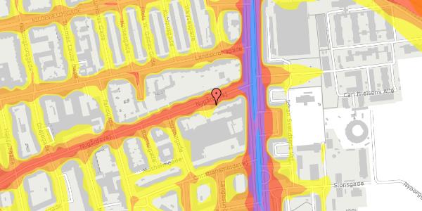 Trafikstøjkort på Nygårdsvej 3D, 2100 København Ø