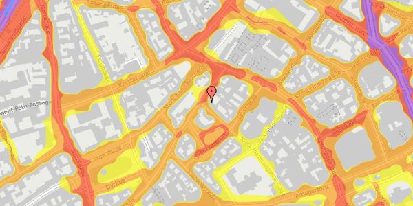 Trafikstøjkort på Niels Hemmingsens Gade 36, 1153 København K