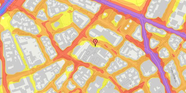 Trafikstøjkort på Købmagergade 50D, 1150 København K