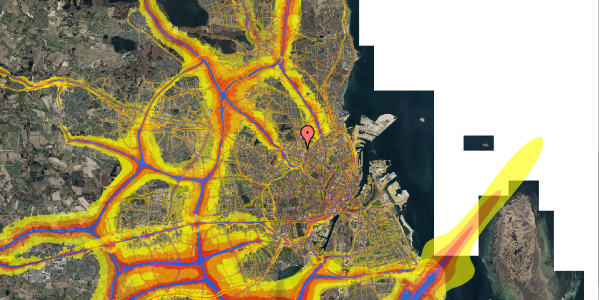 Trafikstøjkort på Bisiddervej 18, 1. th, 2400 København NV