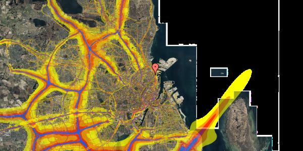 Trafikstøjkort på Viborggade 70D, 2. , 2100 København Ø