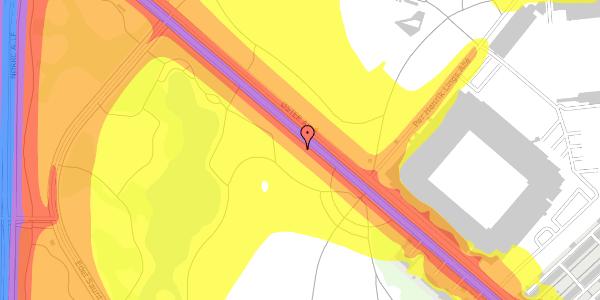 Trafikstøjkort på Øster Allé 41, 2100 København Ø
