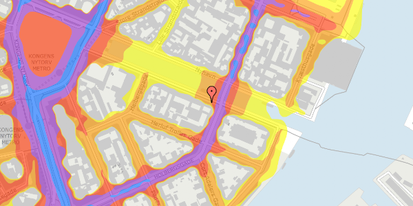 Trafikstøjkort på Nyhavn 22, 1. , 1051 København K
