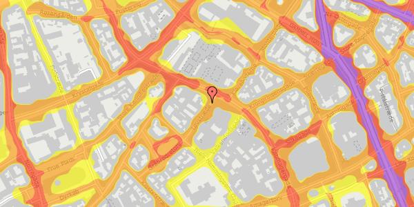 Trafikstøjkort på Løvstræde 2, 2. tv, 1152 København K