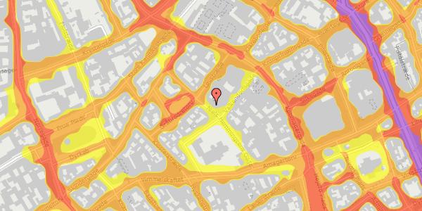 Trafikstøjkort på Niels Hemmingsens Gade 24, 1. , 1153 København K