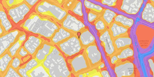 Trafikstøjkort på Pilestræde 35A, st. , 1112 København K