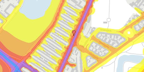 Trafikstøjkort på Høyensgade 1, 1. , 2100 København Ø