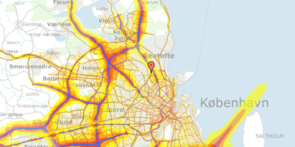 Trafikstøjkort på Rødhalsgangen 32, 2400 København NV