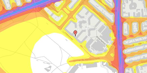Trafikstøjkort på Serridslevvej 14A, kl. , 2100 København Ø