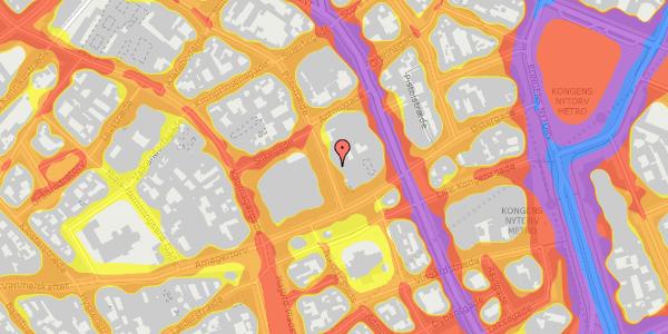 Trafikstøjkort på Pilestræde 8A, 1112 København K