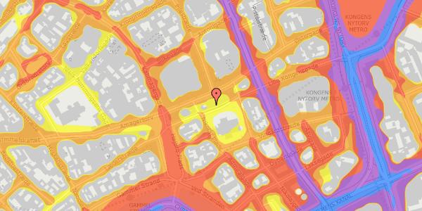 Trafikstøjkort på Nikolaj Plads 8, 4. , 1067 København K