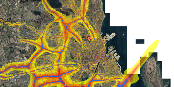 Trafikstøjkort på Rentemestervej 38A, 2400 København NV