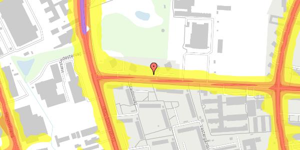 Trafikstøjkort på Stadionvej 88, 2600 Glostrup