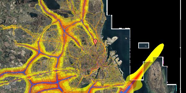 Trafikstøjkort på Vermundsgade 40, 2. th, 2100 København Ø