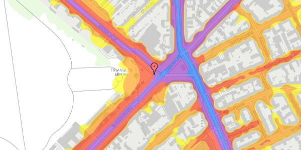 Trafikstøjkort på Trianglen 8, 2100 København Ø