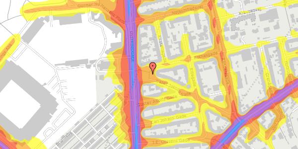 Trafikstøjkort på Sankt Jakobs Plads 8, 2100 København Ø