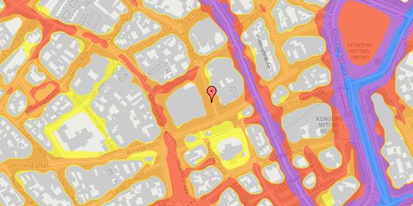 Trafikstøjkort på Pilestræde 5, 1112 København K