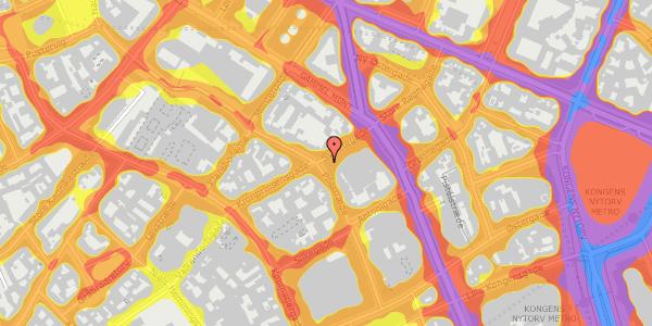 Trafikstøjkort på Pilestræde 36, 1112 København K