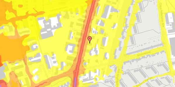 Trafikstøjkort på Arnold Nielsens Boulevard 73, 1. , 2650 Hvidovre