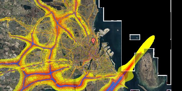 Trafikstøjkort på Sortedam Dossering 53C, 1. 4, 2100 København Ø