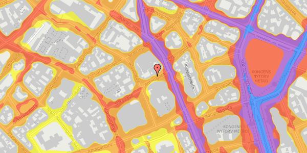 Trafikstøjkort på Antonigade 9, 3. , 1106 København K