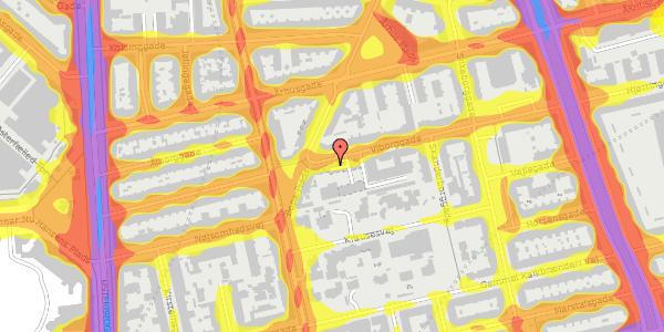 Trafikstøjkort på Viborggade 42, st. th, 2100 København Ø
