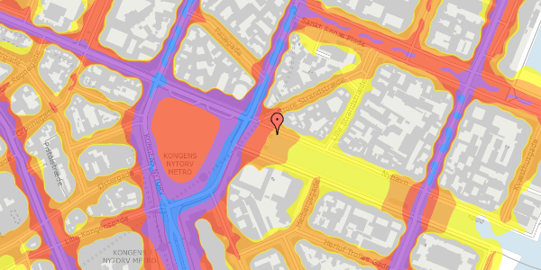 Trafikstøjkort på Nyhavn 1F, 1051 København K