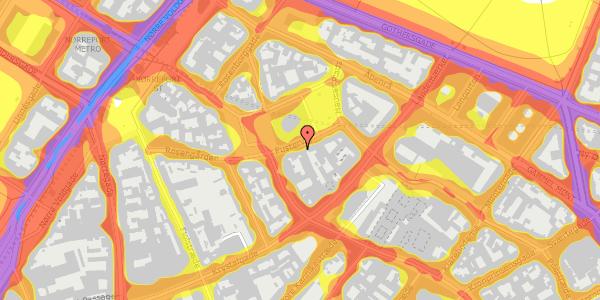 Trafikstøjkort på Pustervig 8, 1126 København K
