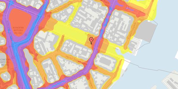 Trafikstøjkort på Nyhavn 26, 1. , 1051 København K