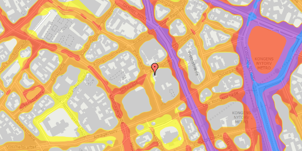 Trafikstøjkort på Pilestræde 16, 1112 København K