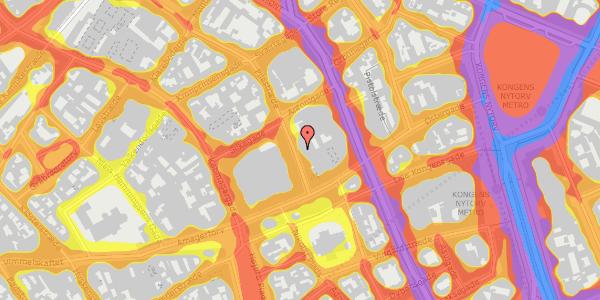Trafikstøjkort på Pilestræde 8B, 1112 København K