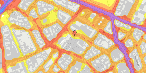 Trafikstøjkort på Pilestræde 65, 1112 København K