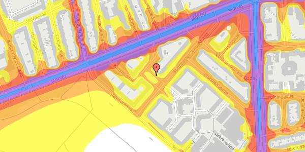 Trafikstøjkort på Ove Rodes Plads 2, 2100 København Ø