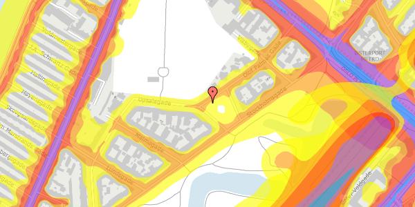 Trafikstøjkort på Hjalmar Brantings Plads 9, 2100 København Ø