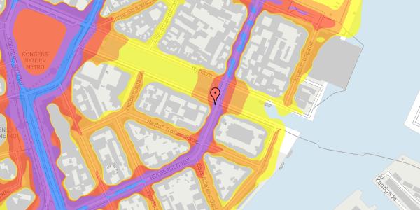 Trafikstøjkort på Nyhavn 24, 1051 København K