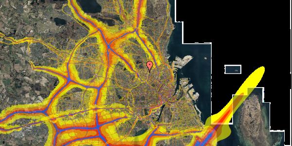 Trafikstøjkort på Bygmestervej 21A, 3. mf, 2400 København NV