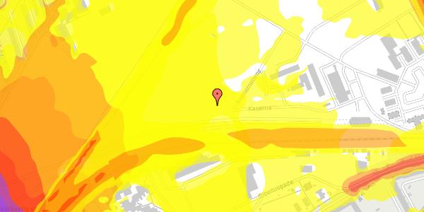 Trafikstøjkort på Svanemøllens Kaserne 101, 2100 København Ø