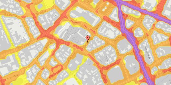 Trafikstøjkort på Klareboderne 3, 1115 København K