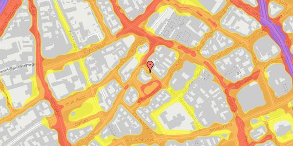 Trafikstøjkort på Niels Hemmingsens Gade 21, 1153 København K