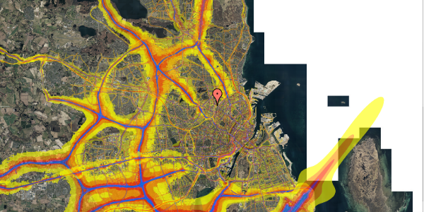 Trafikstøjkort på Bisiddervej 18, 3. th, 2400 København NV