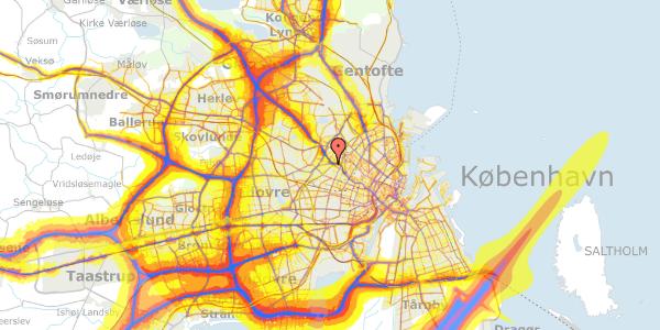 Trafikstøjkort på Jordbærvej 11, 2400 København NV