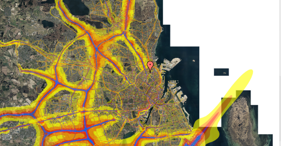 Trafikstøjkort på Lyngbyvej 18, st. th, 2100 København Ø