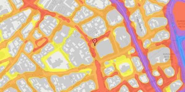 Trafikstøjkort på Købmagergade 20, 1150 København K