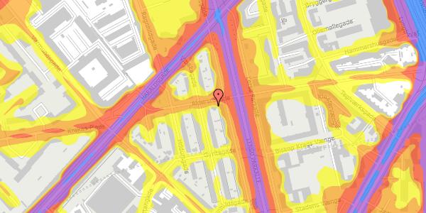 Trafikstøjkort på Aldersrogade 17, st. 2, 2100 København Ø