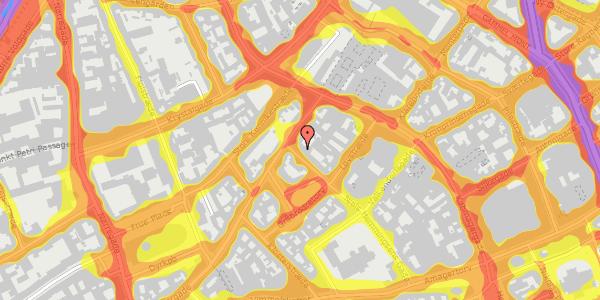 Trafikstøjkort på Niels Hemmingsens Gade 34, 1153 København K