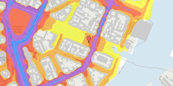 Trafikstøjkort på Nyhavn 26, st. , 1051 København K