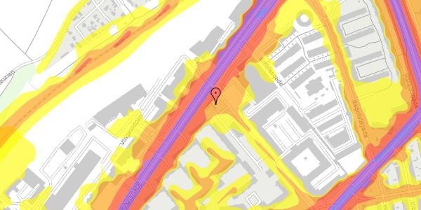 Trafikstøjkort på Vermundsgade 47A, 2100 København Ø
