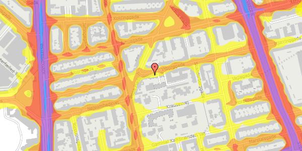 Trafikstøjkort på Viborggade 42, 3. tv, 2100 København Ø