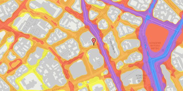 Trafikstøjkort på Antonigade 9A, 1106 København K